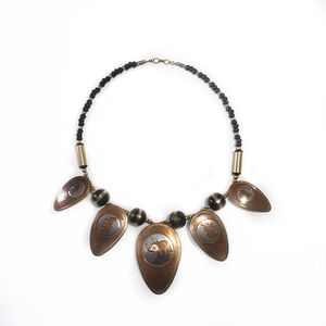 Jewelry - Elephant Metal and Beaded Necklace